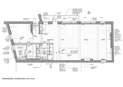 warehouse loft floor plans bermondsey warehouse loft apartment form design