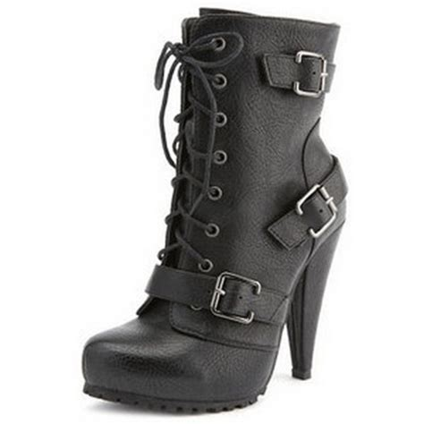 combat high heel boots shoes combat heel combatboots combatheels heels high