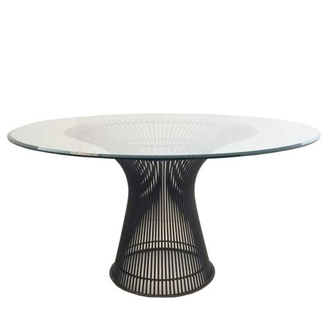 bronze dining table by warren platner for knoll for sale