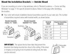 Drapery Cord Replacement Hunter Douglas Luminette Installation Brackets Outside