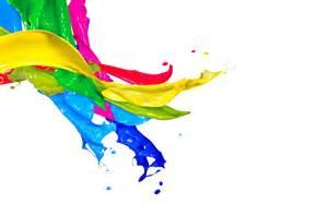 Multicolor plaint splash in white wall hd wallpapers rocks