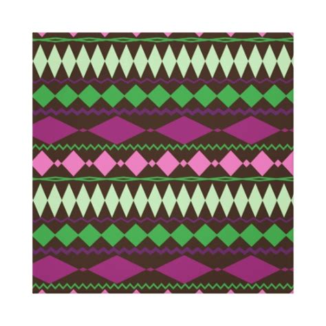 tribal pattern on canvas colorful tribal geometric pattern design stretched canvas