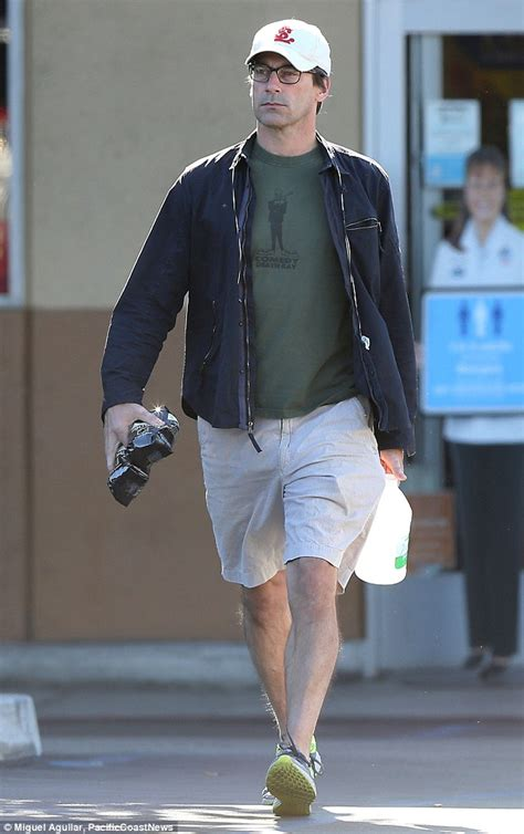 Jon Hamm ditches his suave Mad Men look for T shirt and