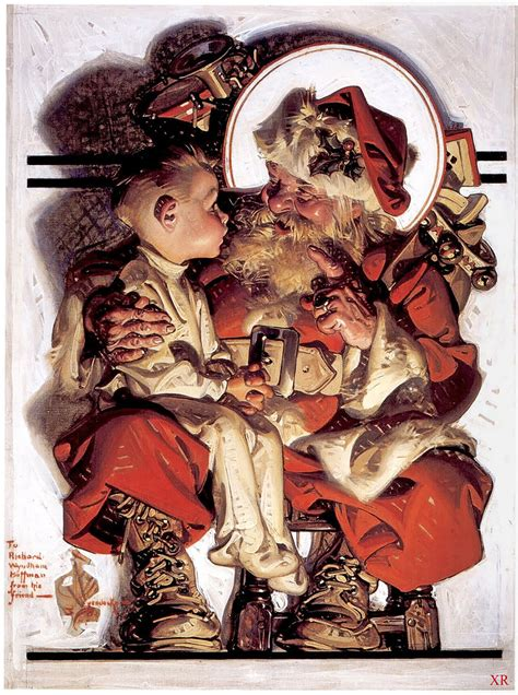 santa  boy jc leyendecker james vaughan flickr