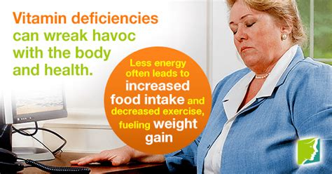 Vitamin Weight Gain vitamin deficiency and weight gain the link