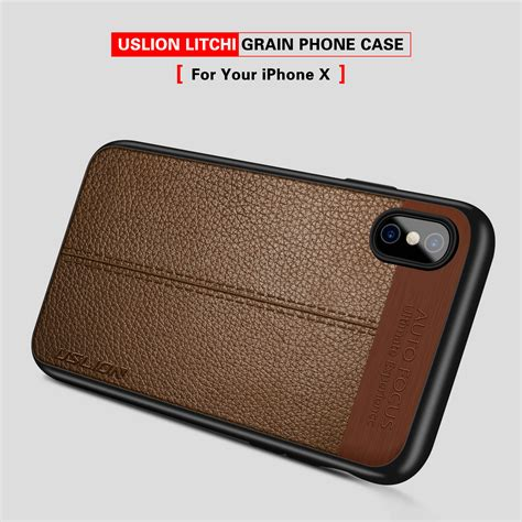 Iphone X Tpu Softjacket Casing Cover new for iphone x leather rubber soft tpu silicone thin phone cover apple ebay