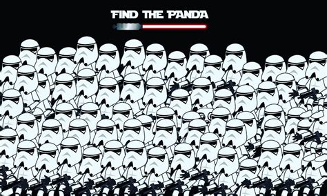 Find In The Find The Panda Intrigued Amused