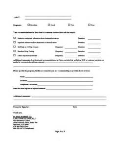 Resume Job Title by Substance Abuse Assessment Form Free Download