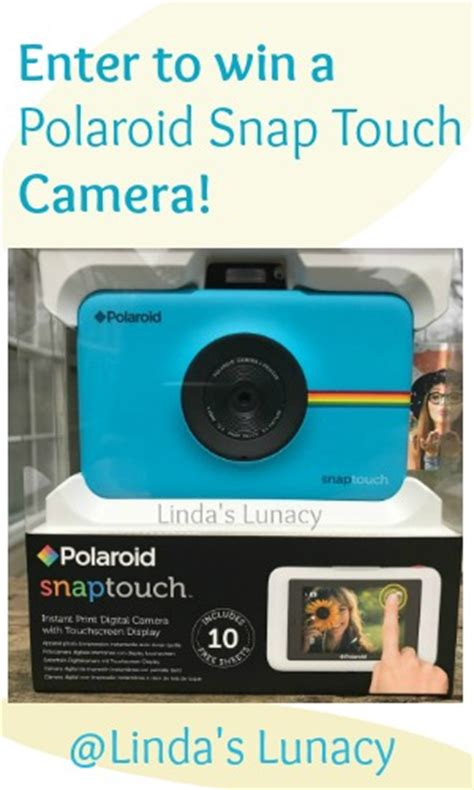 Polaroid Camera Giveaway 2017 - such a fun camera polaroid snap touch review giveaway linda s lunacy linkis com