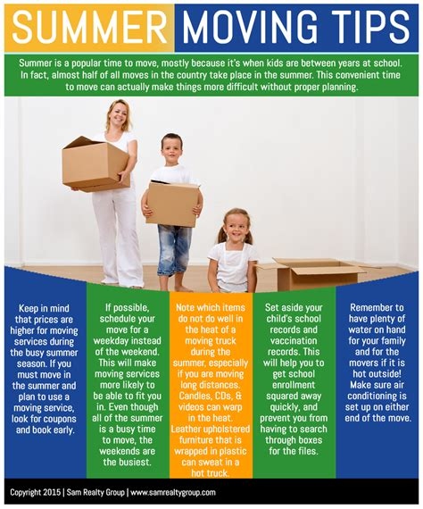 moving tips summer moving tips sam realty group