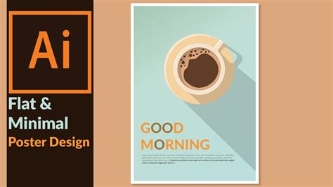 design poster on illustrator designing a minimal flat design poster in adobe