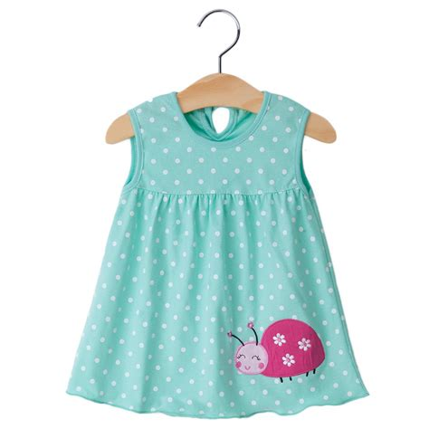 Dress Baby 0 12 Month 2016 new summer baby 100 cotton slip newborn