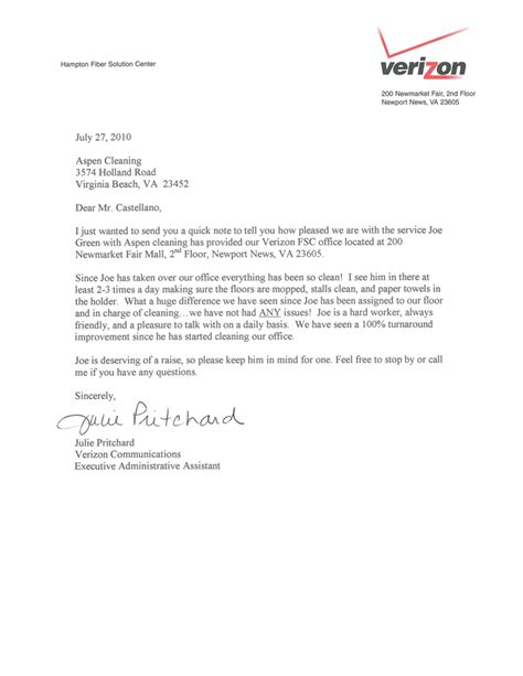 Recommendation Letter For Cleaner Customer Testimonials Aspen Cleaning Company Norfolk