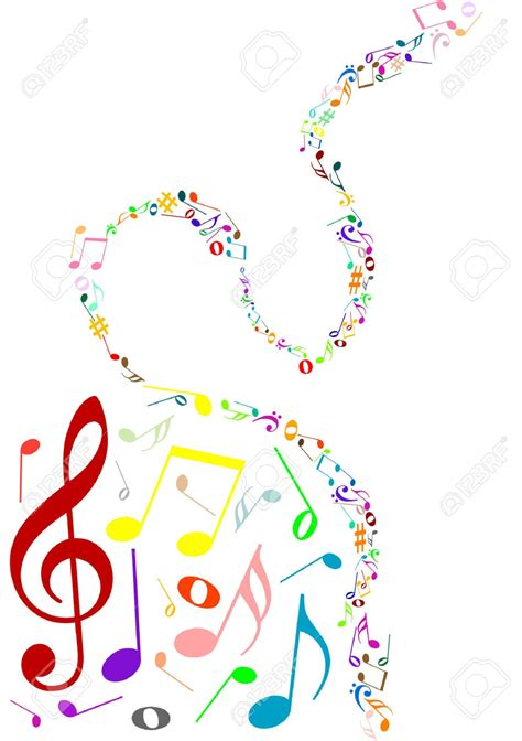 clipart musicali color notes clipart clipground