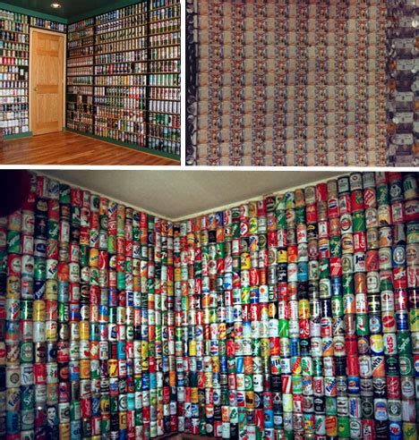 what are walls made of creative ways to give old beer cans new life webecoist