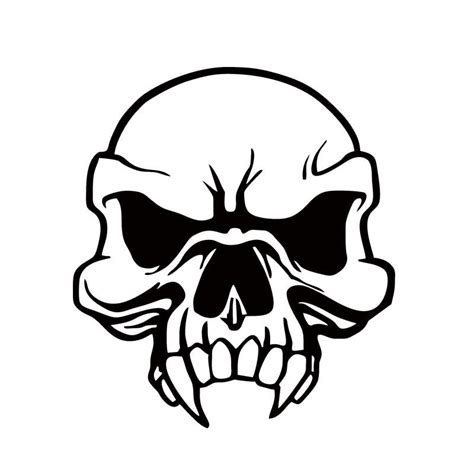 2018 long teeth skull truck sticker waterproof vinyl