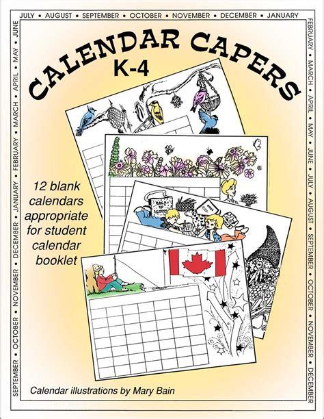 Ccp Calendar Calendar Capers Student Calendar Booklet Ccp Interactive
