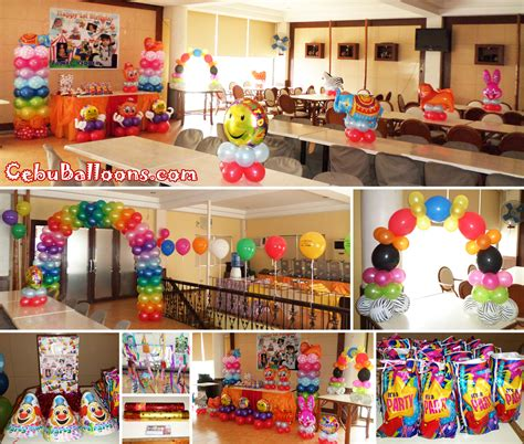 Carnival theme balloon decoration amp party package at happy homes subision cebu balloons and