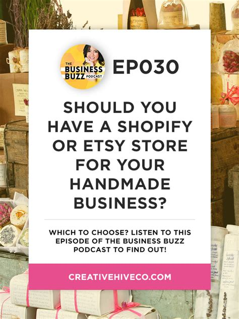 Handmade Business Tips Instagram For - 30 should you a shopify or etsy store creative hive