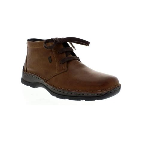 rieker mens boots rieker 05344 25 mens brown lace up ankleboots rieker