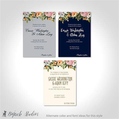 Undangan Pernikahan Floral kartu undangan pernikahan motif floral