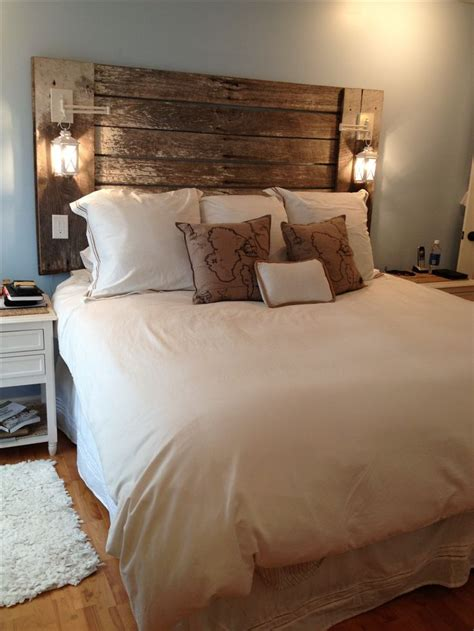 Wood Plank Headboard Best 25 Reclaimed Wood Headboard Ideas On Pinterest Diy Wooden Headboard Contemporary Beds