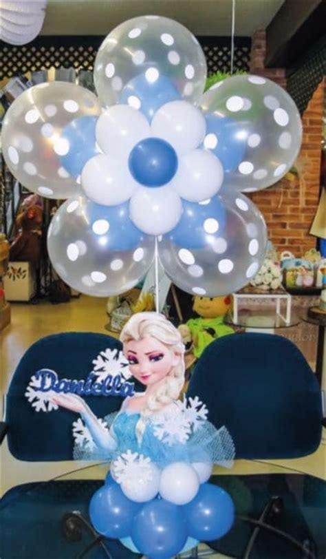 arreglos con globos de frozen decoracion con globos frozen para fiesta infantil
