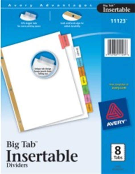 Worksaver Big Tab Insertable Tab Dividers With White Paper Worksaver Tab Inserts Template