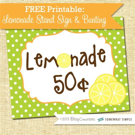 printable lemonade banner lemonade stand sign free printable cute idea by somewhat