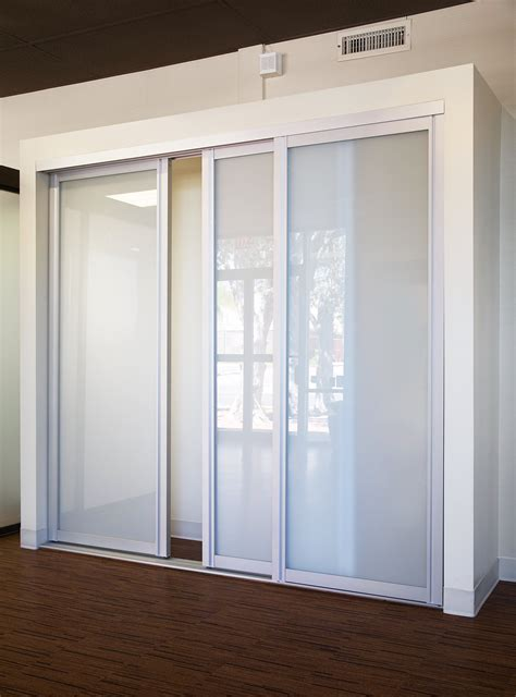 Sliding Glass Closet Doors Milky Glass Closet With Glass Doors