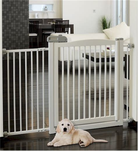 wide dog gates for the house extra wide dog kids tension mount gate fence 2 colors ebay