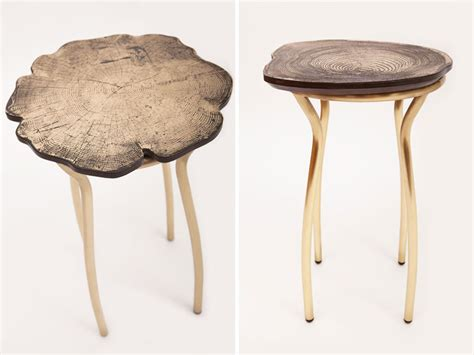 Grainy Stool by Tree Ring Patterns Decorate Stumps Collection By Sides