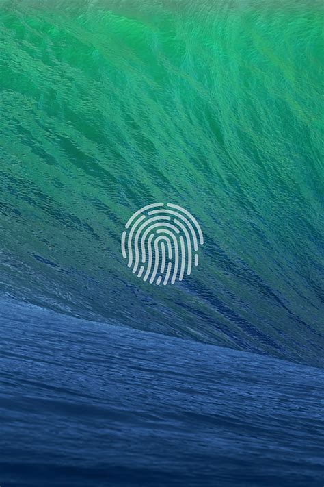 wallpaper apple wave freeios7 touch id wave parallax hd iphone ipad wallpaper