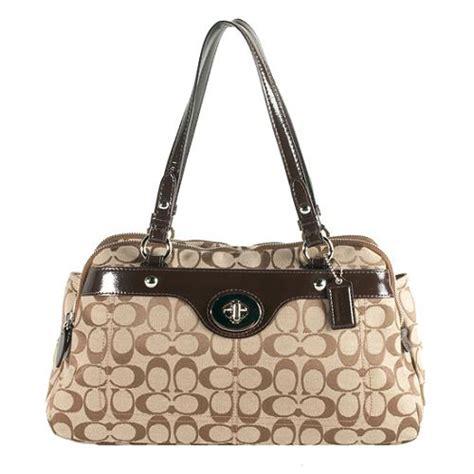 Coach Penelope Canvas Satchel by Coach Penelope Signature Turnlock Satchel Handbag