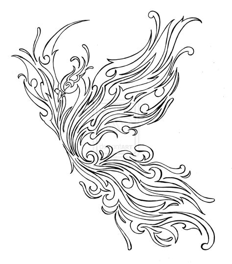 tribal phoenix tattoo tribal by metacharis on deviantart