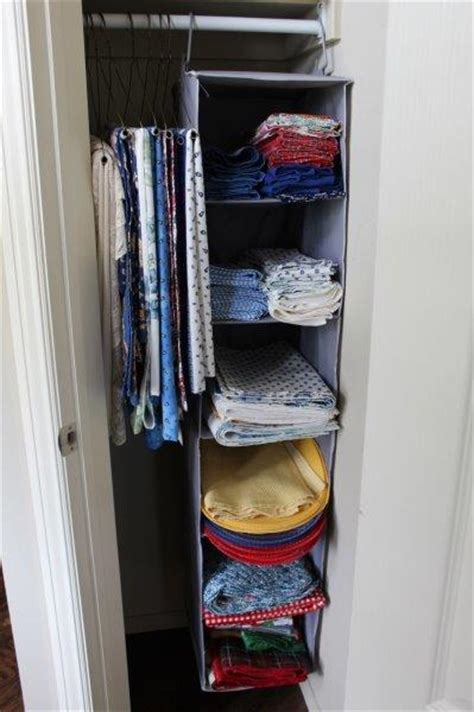 Closet Organizer Materials by How To Turn A Small Closet Into Storage For Dining Linens