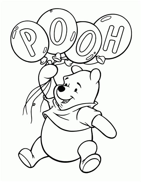 coloring pages winnie  pooh kids  world blog
