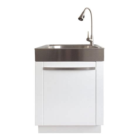 Stainless Steel Utility Sink Cabinet by Presenza All In One 24 2 In X 21 3 In X 33 8 In