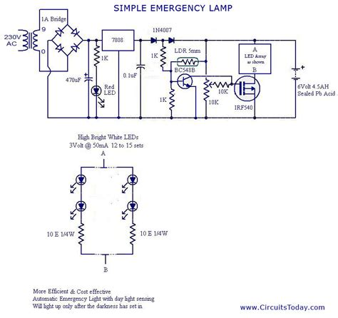 circuit wiring simple current controlled led light