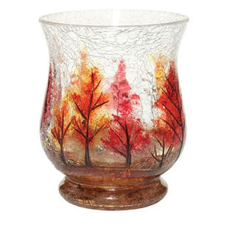 yankee candle autumn leaves hurricane vase ebay