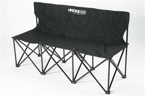 collapsible soccer bench kwik goal 9b903 folding soccer bench 3 seater
