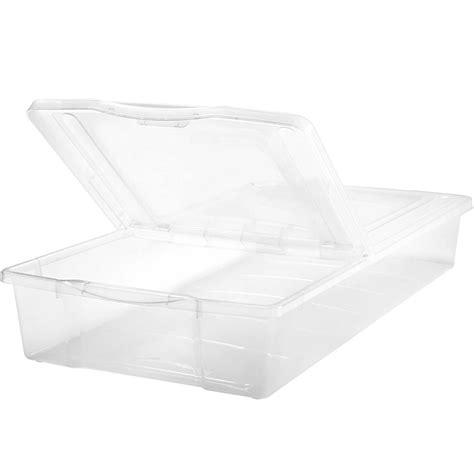plastic under bed storage split top plastic underbed storage box in plastic storage boxes