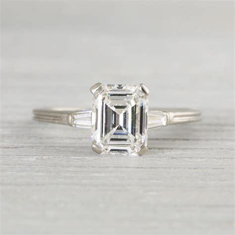 1 41 carat vintage tiffany co emerald cut engagement