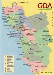 Goa India Map by Incredible India Goa