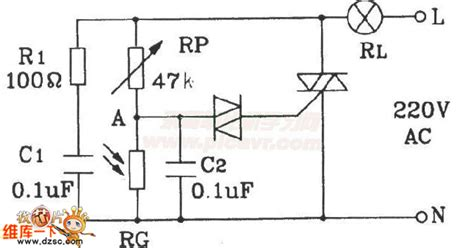 photoresistor light circuit automatical lighting l circuit composed of photoresistor led and light circuit circuit