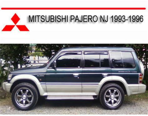 mitsubishi pajero nj 1993 1996 repair service manual download man