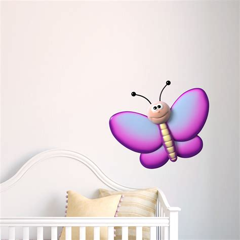 purple butterfly wall stickers 3d purple butterfly printed wall decal