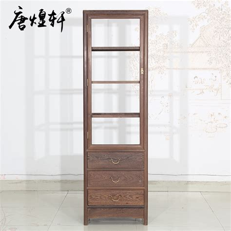 Glass Door Cabinets Living Room Mahogany Furniture Wenge Wood Single Door Glass Wine Cabinet Living Room Display Cabinet