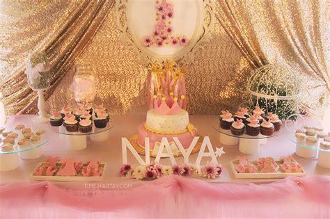 pink gold princess themed birthday timepartaycom