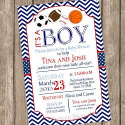 all sports baby shower invitation football soccer